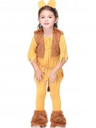Girls Cartoon Lion King Costume Kid Cosplay Costume