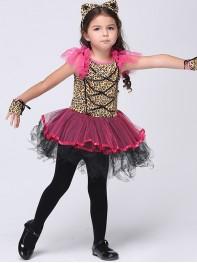 Halloween Leopard Print Fancy Dress Party Costume Tutu Dress