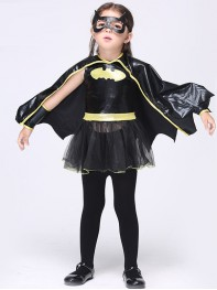 Kids Batgirl Cosplay Halloween Costume