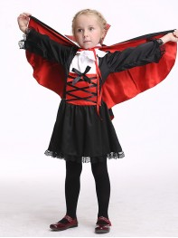 Kids Girl Vampire Dress Cute Vampire Halloween Costume