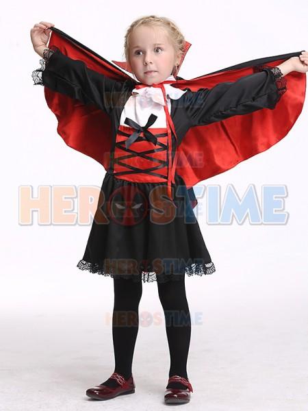 sc 1 st  Herostime.com & Kids Girl Vampire Dress Cute Vampire Halloween Costume