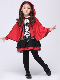 Kids Girls Baby Red Evil Halloween Fancy Costume