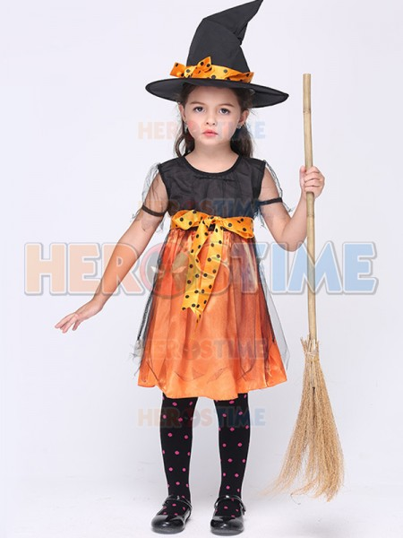 ... Kids Halloween Costume Girls Witch Halloween Party Fancy Dress ...  sc 1 st  Herostime.com : kids halloween costume  - Germanpascual.Com