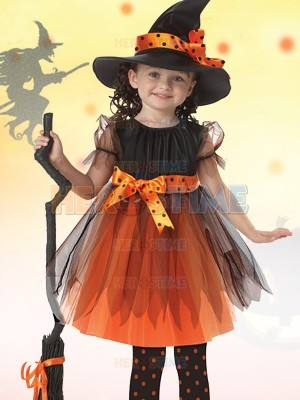 Kids Halloween Costume Girls Witch Halloween Party Fancy Dress