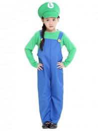 Kids Mario And Luigi Costumes Super Mario Bros/Brothers Halloween Costume