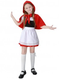 Little Red Riding Hood Kids Halloween Costume Girls Cosplay Costume