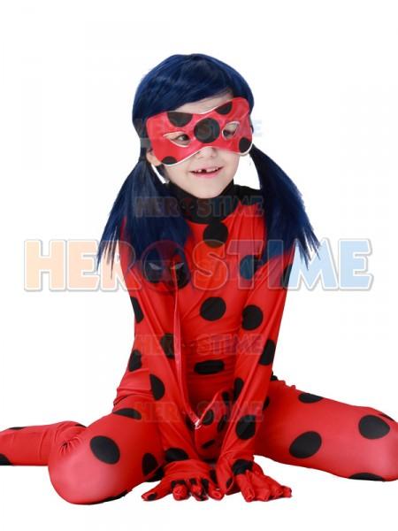 miraculous ladybug girls halloween tight cosplay costume. Black Bedroom Furniture Sets. Home Design Ideas