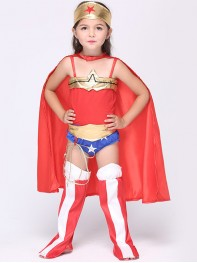 Superhero Girls Wonder Woman Fancy Dress Halloween Costume