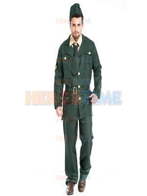2017 Mens Pilot Costume Adult Airline Pilot Halloween Fancy Dress