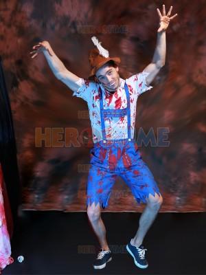 2017 New Zombie Vampire Blood Paint Halloween Costume Beer Festival Dress
