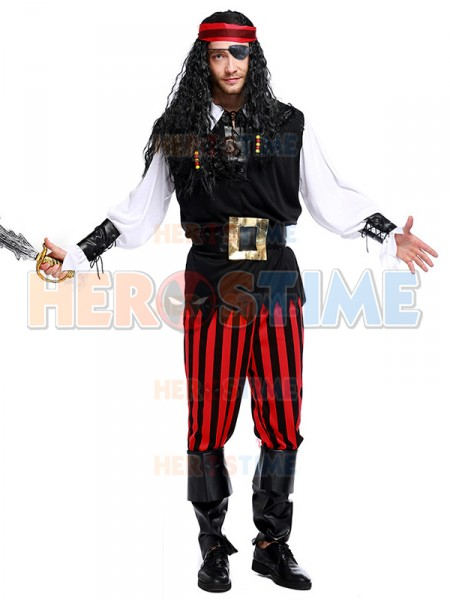 sc 1 st  Herostime.com & 2017 Newest Pirate Costume Adult Mens Halloween Costume Fancy Dress