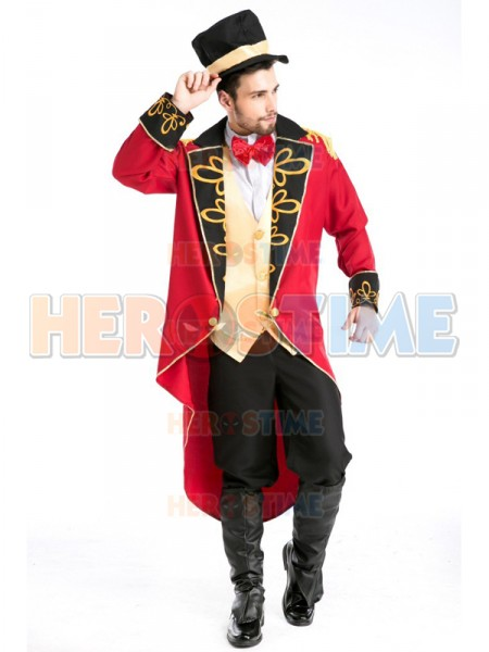 Adult Deluxe Mens Count Magician Halloween Cosplay Costume  sc 1 st  Herostime.com & Mensu0027 Gothic Vampire Baron Halloween Costume Fancy Costume