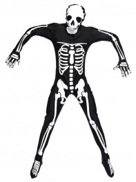 Adult Ghost Skull Black Fancy Costume Halloween Cosplay Costume