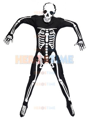 Adult Ghost Skull Black Fancy Costume Halloween Cosplay Costume