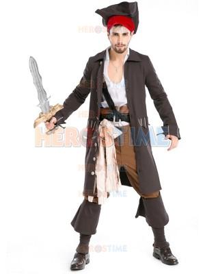 Adult Man Luxury Pirate Costume Halloween Fancy Dress
