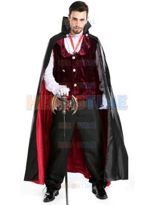 Adult Mens' Gothic Vampire Baron Halloween Costume Fancy Costume