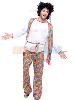 Adult Mens Hippie Fancy Halloween Costume