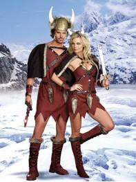 Cool Viking Mens Costume Tribal chief Fancy Costume