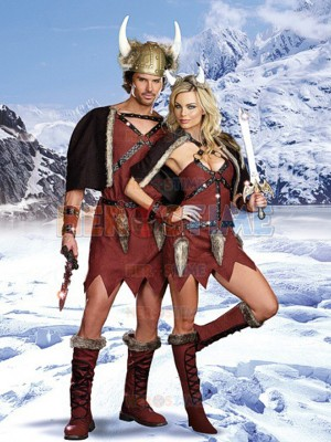 Cool Viking Mens Costume Tribal chief Fancy Costume