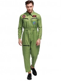 Fashion Mens Pilot Uniform Adult Airline Pilot Halloween Costume