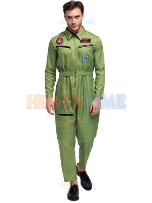 Fashion Mens Pilot Uniform Adult Airline Pilot Halloween Costume
