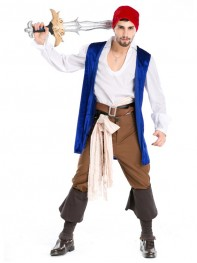Funny Pirate Costume Vest Adult Halloween Fancy Dress