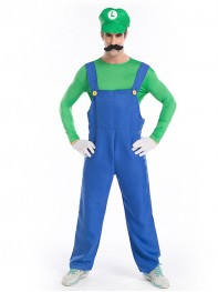 Halloween Costume Super Mario Brothers Mario and Luigi Costumes