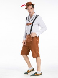 Oktoberfest Waiter Beer Boy Cosplay Halloween Fancy Costume