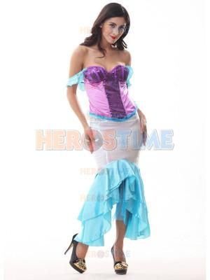 2017 Paillette One-piece Mermaid Multicolor Halloween Costume