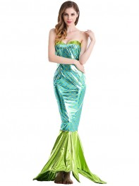 2017 Shiny Mermaid Tight Fit Long Tail Fancy Dress