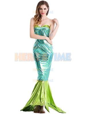 2017 Shiny Mermaid Tight Fit Long Tail Fancy Dress