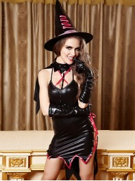 Deluxe Witch Costume Halloween Fancy Dress