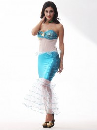 Female Mermaid Costume Fairy Tale The Little Mermaid Cosplay Halloween Costume
