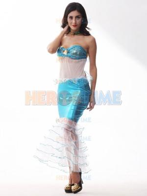 Female Mermaid Costume Fairy Tale The Little Mermaid Cosplay Halloween Costume