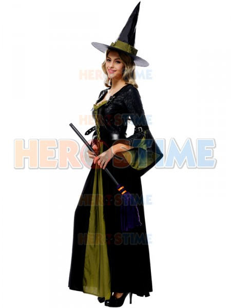 sc 1 st  Herostime.com & Halloween Costumes Black and Green Witch Dress