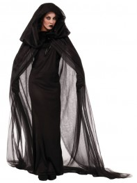 Halloween Costumes Mysterious And Scary Black Witch Dress