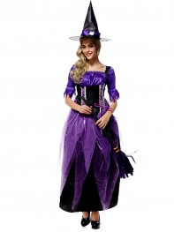 Halloween Costumes Purple Witch Costume