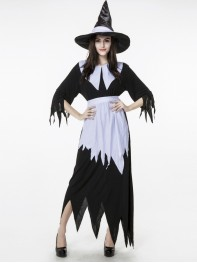 Halloween Costumes Witch Costume Irregular Hem Dress