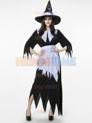 Halloween Costumes Witch Costume Irregular Hem Dress
