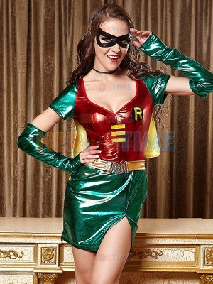Ladies Super Hero Robin Woman Halloween Costume