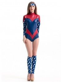 Sexy Captain America Female Halloween Dancing Costume