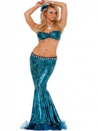 Woman Mermaid Costume Adult Mermaid Halloween Fancy Dress