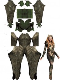 2017 Mera Justice League Movie Version Cosplay Costume