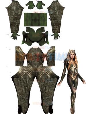 2017 Mera Justice League Movie Version Cosplay Costume