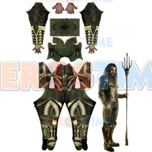 Justice League Aquaman Costume 3d Printing Superhero Cosplay Suit