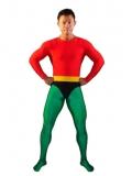 Red & Green Spandex Aquaman Superhero Costume