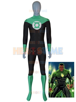John Stewart Suit Green Lantern Halloween Superhero Costume