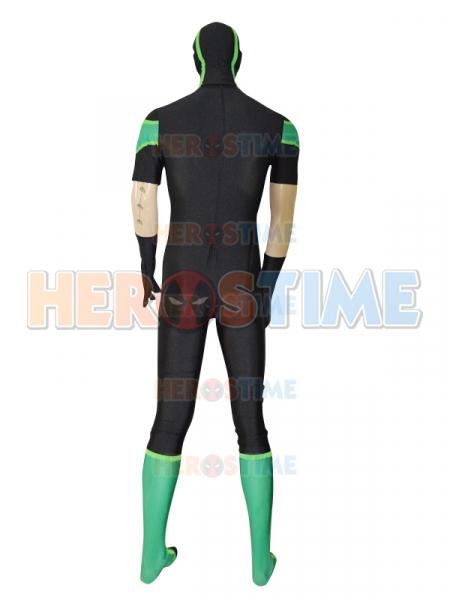 2016 new style green lantern short sleeves superhero costume for Style green