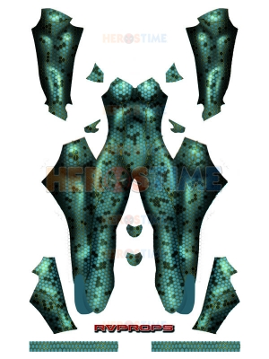 2018 Aquaman Movie Mera Cosplay Costume