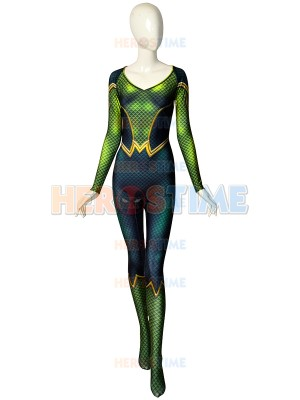 Mera Comics Version DyeSub Printing Cosplay Costume